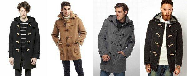 мужчины в куртках-дафлкот