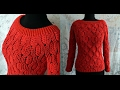Джемпер женский крючком с рукавом. Cardigan womens crochet sleeve.
