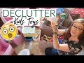 GETTING RID OF OUR KIDS' TOYS!   Declutter with Me + Minimalism