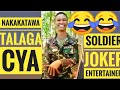 TRY NOT TO LAUGH-filipino soldier funny moment inside the jungle
