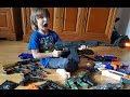 Моя коллекция  детского оружия (АК - 74, бластеры от Nerf, пистолеты, сюрикен, кинжалы)