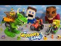 Grossery Gang DINOSAUR JURRASIC WORLD WAR! Vehicles Unboxing