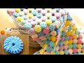 How to crochet Macaron  circle afghan blanket free easy pattern tutorial for beginner