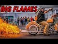 Extreme flame exhausts on motorcycles 2017
