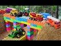 Bridge Construction Vehicles, Fire Truck, Dump Truck Toys