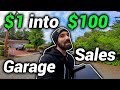 Turning $1 into $100 | Garage Sale Flipping | Ride Along