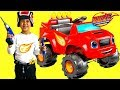 Unboxing Blaze and the Monster Machine Battery-Powered Ride On Monster Truck 6V Test Drive TBTFUNTV