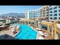 Летим отдыхать в Турцию с детьми. Крутой отель в Алании 5*,  дети купаются в море День #1