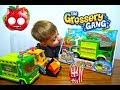 Мусоровоз Продуктовая банда Распакoвка Обзор The Grossery Gang Muck Chuck Garbage Truck Toy