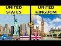United States of America VS united Kingdom | Country Comparison | USA VS UK 2019