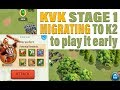 Rise of Kingdoms KvK stage 1 - Migrating to K2 to take part : killing Marauders