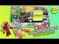 Grossery Gang Metallic Trash Attack Pack Series 3 Exclusive Garbage Truck Stop Motion Unboxing Slime