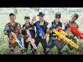 LTT Game Nerf War : Couple Warriors SEAL X Nerf Guns Fight Crime group Inhuman Wise