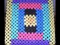 Вязание из полиэтиленовых  пакетов. Чехлы на табуретки. Основа-бабушкин квадрат. Схема. Ч.1