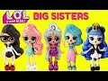 LOL SURPRISE BIG SISTER COMPILATION Black Tie, Treasure, Precious, Splash Queen, Midnight