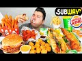 Subway, Wings, & Burger King • MUKBANG