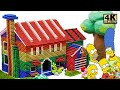 DIY How To Build Simpsons Family House From Magnetic Balls (Satisfying and relax) | Magnet World 4K