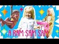 A Ram Sam Sam and more english rhymes karaoke with Monica baby songs