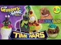 Grossery Gang Time Wars Movie Series 5: Action Figures + 10 Pack Flush N Fizz Toilet Toy Unboxing