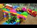 Bridge Construction Vehicles, Dump Trucks Blocks Toys