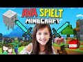 7 Jährige spielt alleine Minecraft 😁 Ava baut ihren Unterschlupf - Alles Ava