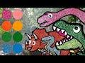 Let's Go to Dinner! | Dinosaurs for kids | Tyrannosaurus Rex, Velociraptor, Triceratops, Apatosaurus