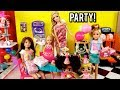 Barbie Family Birthday Party at Indoor Playground - LOL Doll Goldie's Big Win!