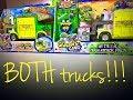 BOTH Grossery Gang Muck Chuck Garbage Trucks! Metallic Trash Head