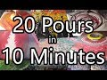 20 Acrylic Pours in 10 minutes