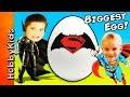 Giant BATMAN vs SUPERMAN Surprise Egg