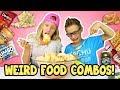 WEIRD FOOD COMBINATIONS PEOPLE LOVE!!!!!