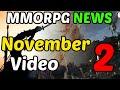 November Week 2 - MMORPG News Recap 2019