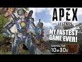 MY FASTEST GAME EVER! | Apex Legends PATHFINDER GAMEPLAY