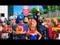 Nerf Battle: Thanos Returns To Battle Avengers Hero Kids - a Fun Kids Parody