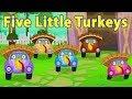 пять маленьких индеек   потешки и дети видео   Five Little Turkeys   Little Red Car Russia