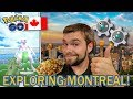 OH CANADA! SHINY MEWTWO RAIDING IN MONTREAL!!! (Pokemon GO)