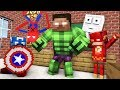 Monster School : BECAME A SUPERHERO Challenge - Minecraft Animation