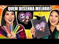 QUEM FIZER O MELHOR DESENHO GANHA! - Desafio de halloween | Blog das irmãs