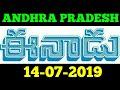 Telugu Newspaper Today Eenadu  14-07-2019 ANDHRA PRADESH