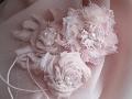 Цветы из ткани и кружева Винтаж  Шебби шик Мастер класс Vintage flowers