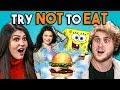 Try Not To Eat Challenge - Nickelodeon Food | People Vs. Food