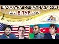 Шахматная Олимпиада 2018 🏅 8 тур 🎤 Сергей Шипов ♕ Шахматы