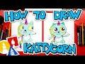 How To Draw Kattycorn From Cupcake And Dino
