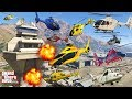 GTA V: Every Helicopters Military Airport Shoot Down Crash and Fail Compilation