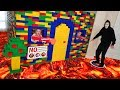 Giant Lego Fort Battle! No Game Master Allowed in Booby Trapped House!!!