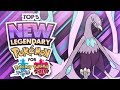 Top 5 NEW Legendary Pokemon for Pokemon Sword and Pokemon Shield