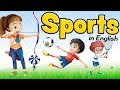 Sports in English - Vocabulary for beginners and children