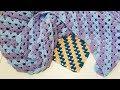 ПОЛОСАТЫЙ ПЛЕД Вяжем крючком из плюшевой и другой пряжи II Для начинающих вязать крючком