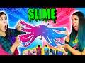 FIZEMOS SLIME USANDO APENAS CORES ROSA VS AZUL! - Slime challenge | Blog das irmãs