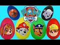 Discovering 6 Paw Patrol Play-doh Surprise Eggs